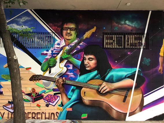 Mural Barrio Yungay/ Gesak & Alan Kode