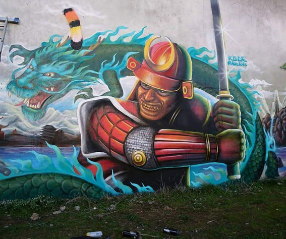 Mural Samurai