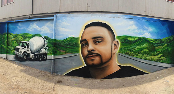 Mural Retrato Andres