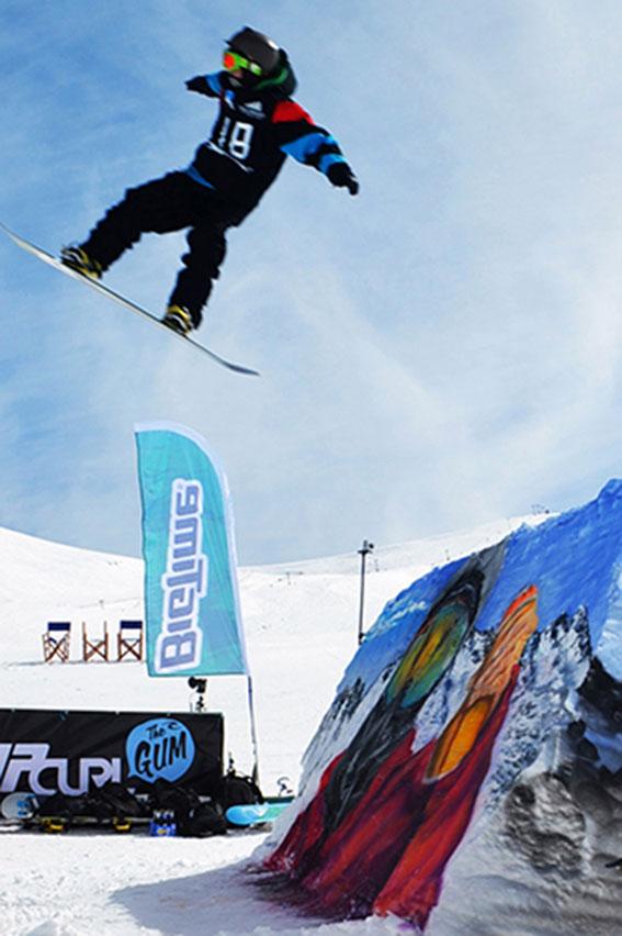 Graffiti en nieve campeonato rip curl Bigtime